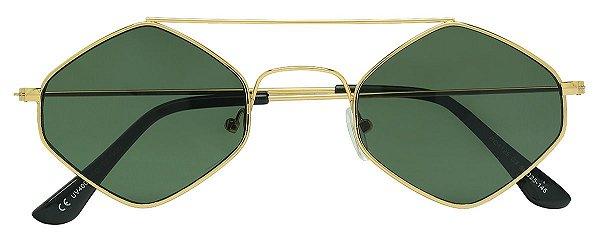 Óculos de Sol Masculino E Feminino AT 4125 Dourado/Verde