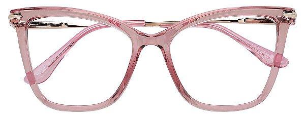 Armação Óculos Receituário AT 2106 Rosé Transparente
