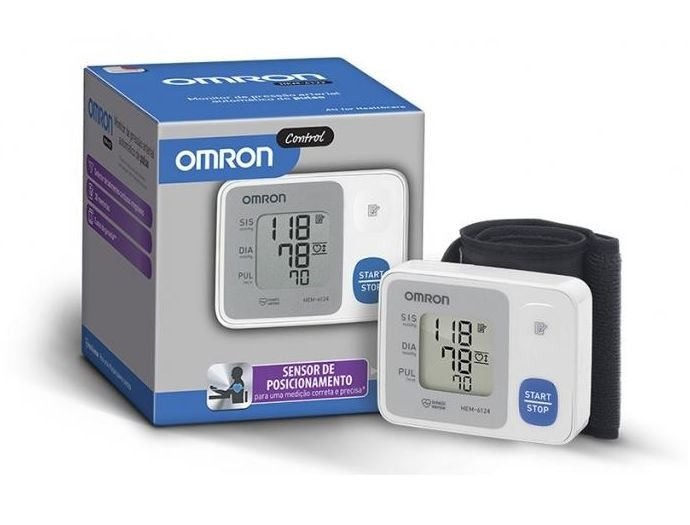 Monitor de Pressão Arterial de Pulso HEM-6124 OMRON