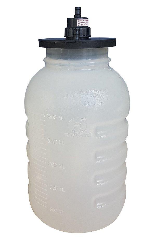 Frasco para Aspiração 3,250 Litros Autoclavável 127°C (Com Tampa) Nevoni