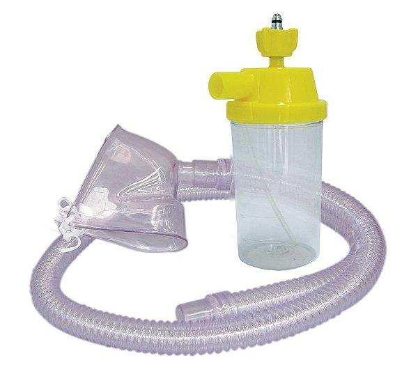 Conjunto Nebulização Continua AR Comprimido com Traqueia em PVC e Mascara Infantil