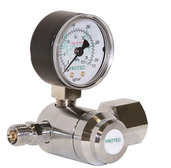 Válvula Reguladora para Cilindro de Oxigênio (Cano Curto)