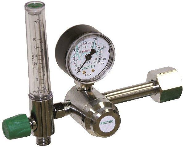 Válvula Reguladora para Cilindro de Oxigênio com Fluxômetro