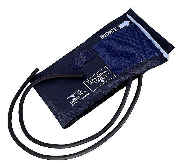 Braçadeira Premium Adulto Nylon Velcro com Manguito 2 Vias