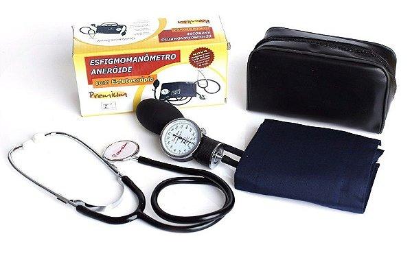 Esfigmomanômetro Adulto Fecho em Velcro com Estetoscópio