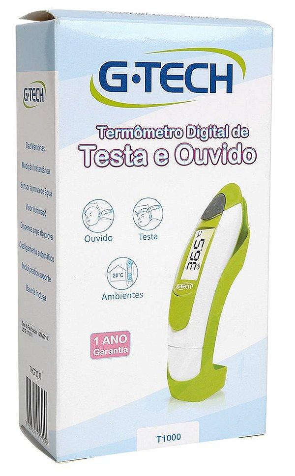 Termômetro Digital de Testa e Ouvido G-Tech
