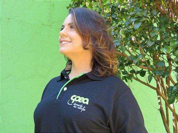 e75b63801b Camiseta Polo Bordada preta - CPEA São Carlos - Loja Virtual