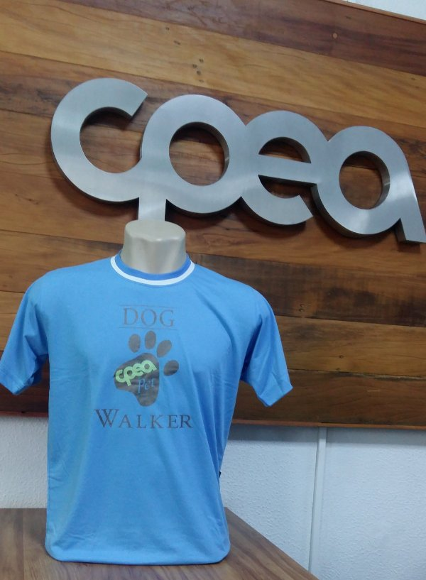 CAMISETA DOG WALKER AZUL