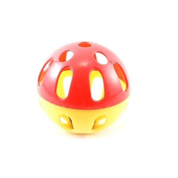 Bola  Gato Plástica com Guizo 8 cm