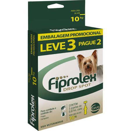 Combo Antipulgas Fiprolex Ceva para Cães 1 a 10 kg