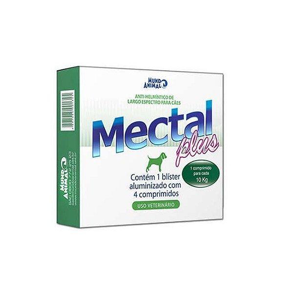 Vermífugo Mectal Plus para Cães 10 kg ( 4 comprimidos ) Mundo Animal