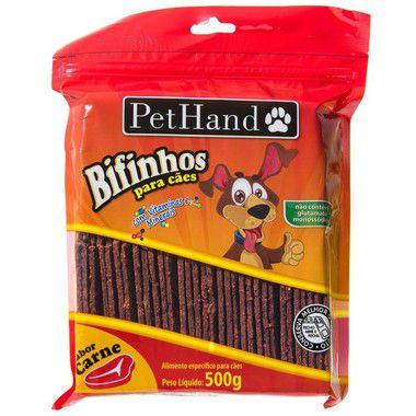 Petiscos Bifinhos Carne Pet Hand