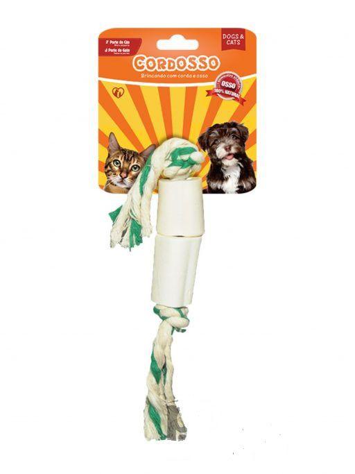 Cordosso Osso Natural  Mini para Gatos e Cães