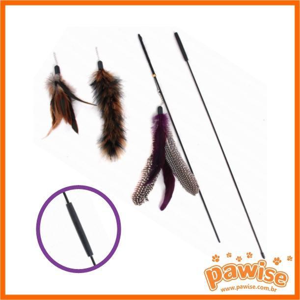 Varinha para Gato 95 cm com 3 brinquedos Pawise