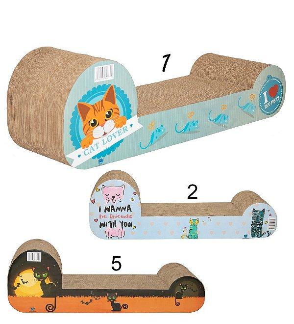 Arranhador Papelão Gato Japão com Catnip Pet Star