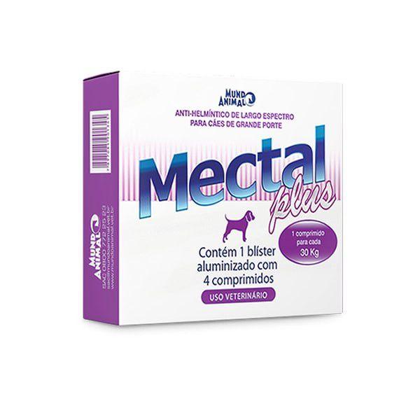 Vermífugo Mectal Plus para Cães 30 kg 4 Comp Mundo Animal