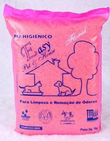 Pó Higiênico Eliminador Odores Floral saco 1 Kg Easy Pet & House