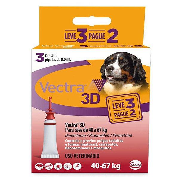 Combo Vectra 3D Cães 40 a 67 Kg Ceva