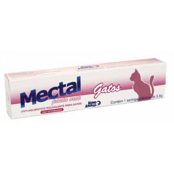 Vermífugo Mectal Pasta Gatos 3,6 g Mundo Animal