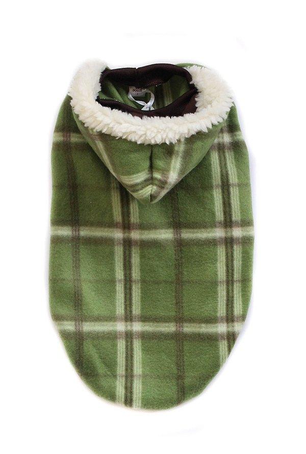 Soft Com Capuz de Pele Verde Claro