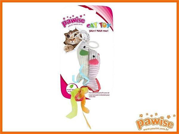 Duplo Peixe com Catnip Pawise