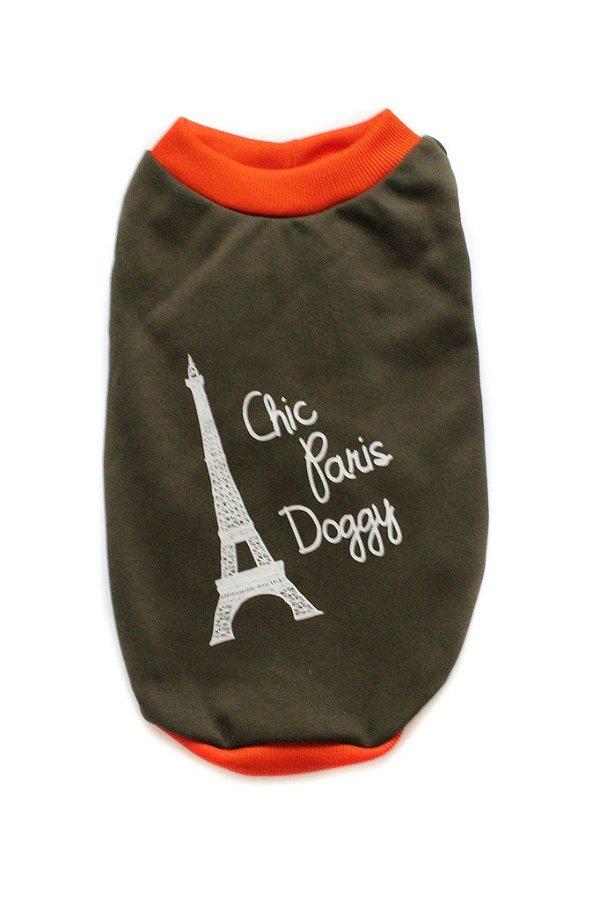 Moletom Marrom/Laranja Chic Dog Paris