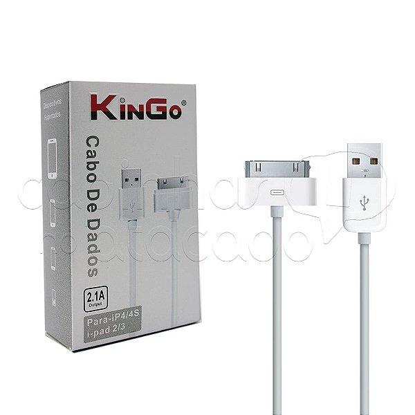 Cabo de Dados para iPhone 4 Linha Premium - KinGo