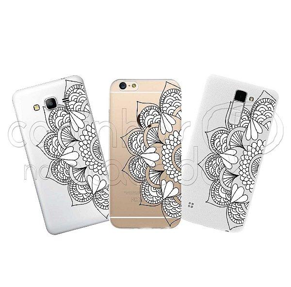Capa Personalizada Premium - Mandala Flores