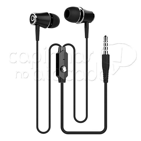 Fone De Ouvido Intra-Auricular Earphone R21 Linha Premium - Kingo