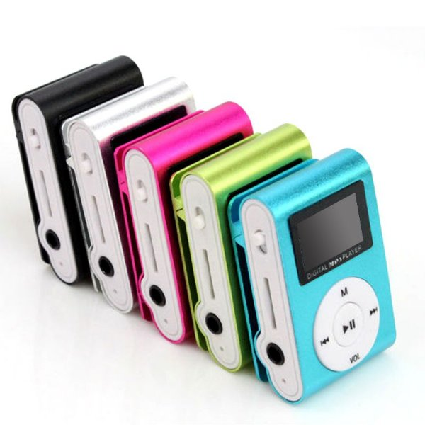 Mini Mp3 Player Metal Clip - Com Visor LCD