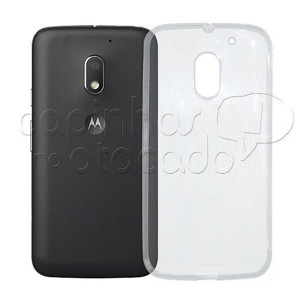 Capa de Silicone TPU Transparente para Motorola Moto E3