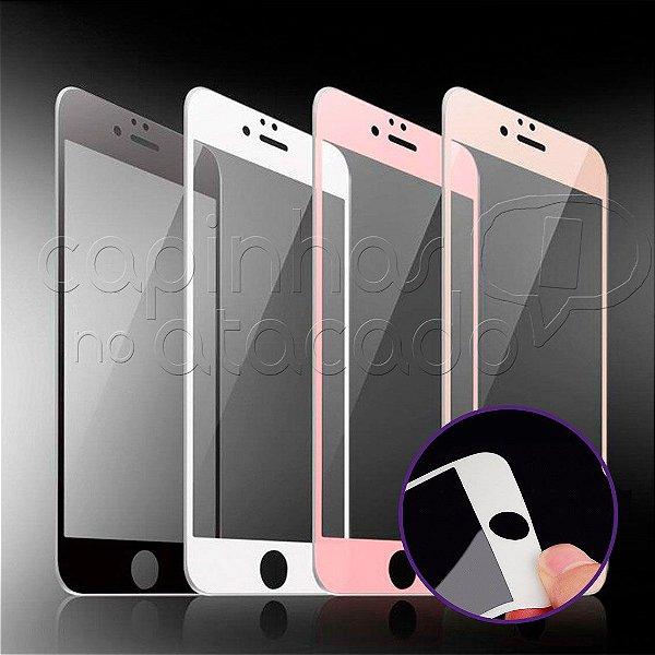 Película de Vidro com Borda de Borracha para Celulares iPhone