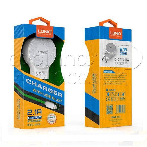 Kit Carregador 2.1A para Micro USB / V8 Strongest - Linha Premium - LDNIO
