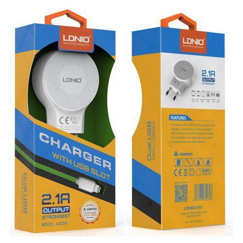 Kit Carregador 2.1A para iPhone 5/6 Strongest - Linha Premium - LDNIO