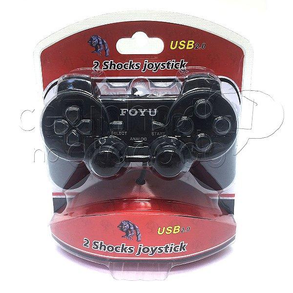 Controle com Fio para Computador - USB 2 Shockers Joystick - Preto