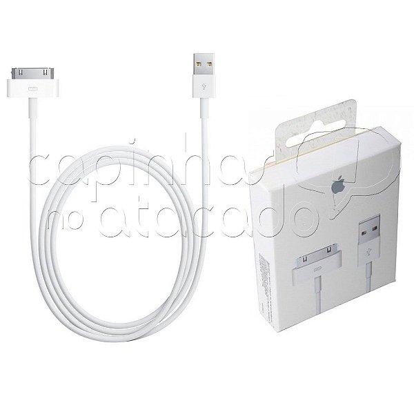 Cabo Carregador USB para Apple iPhone 4 - LIGHTNING 1ª Linha