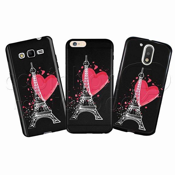 Capa Personalizada Premium BLACK - Torre Eiffel