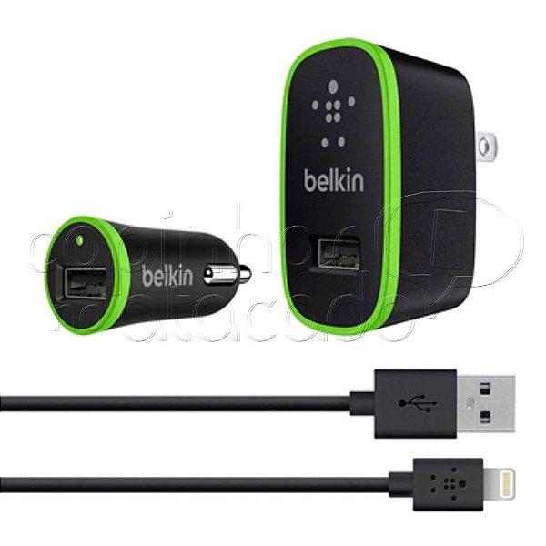 Kit Carregador para iPhone 5/6 com Carregador Veicular - Belkin - Cores Sortidas