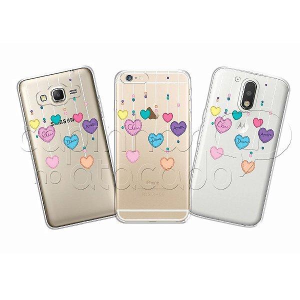 Capinha Personalizada Premium - Mobile Corações