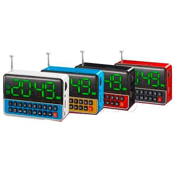 Despertador Rádio Relógio com Display Digital WS-1513 - Cores Sortidas