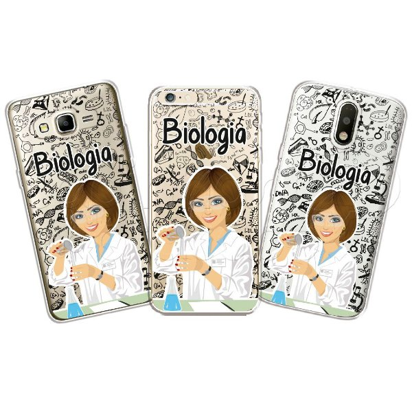 Capa Personalizada Premium Profissões - Biologia