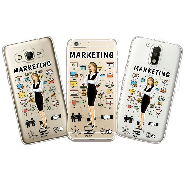 Capa Personalizada Premium Profissões - Marketing