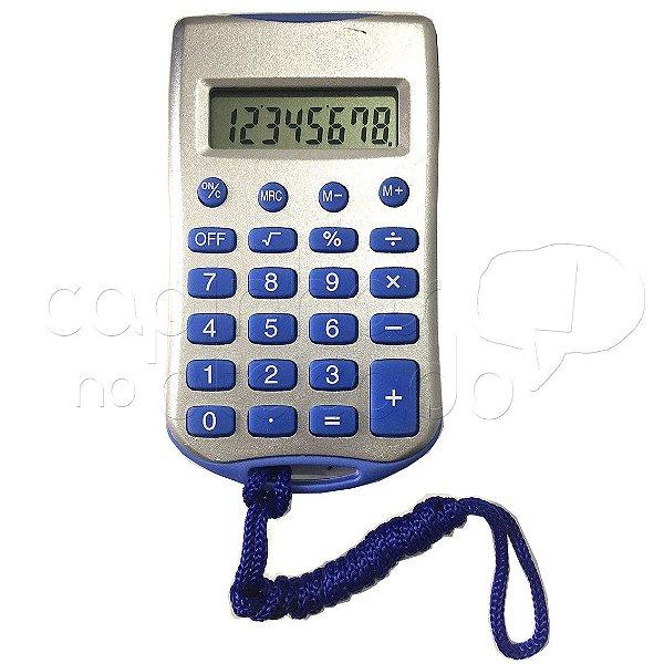 Mini Calculadora Eletrônica com Cordão Basic CH-8990 - Cores Sortidas