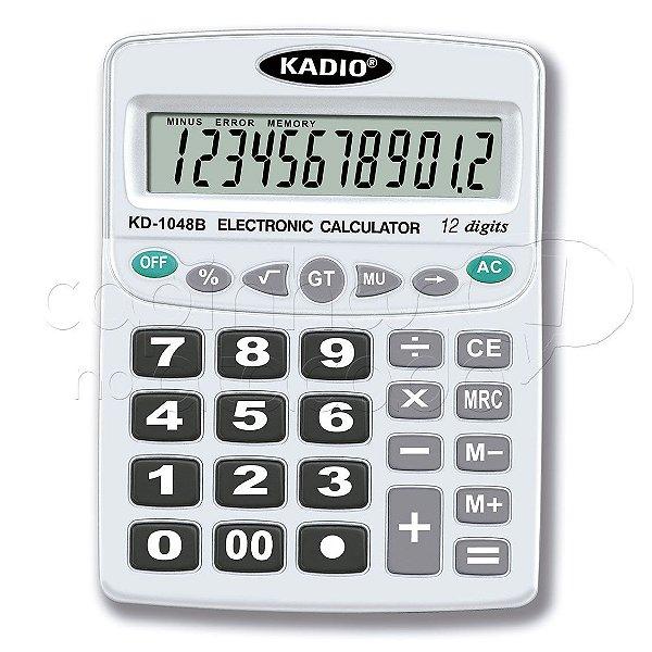 Calculadora Eletrônica 12 Dígitos KD-1048B - Cores Sortidas