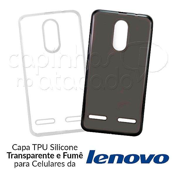 Capinha de Silicone TPU para Celulares da Lenovo - Clique e Escolha o Aparelho