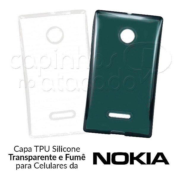 Capinha de Silicone TPU para Celulares da Nokia - Clique e Escolha o Aparelho