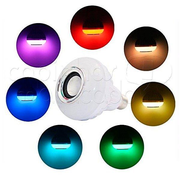 Caixa de Som Lâmpada de LED Bluetooth com Controle