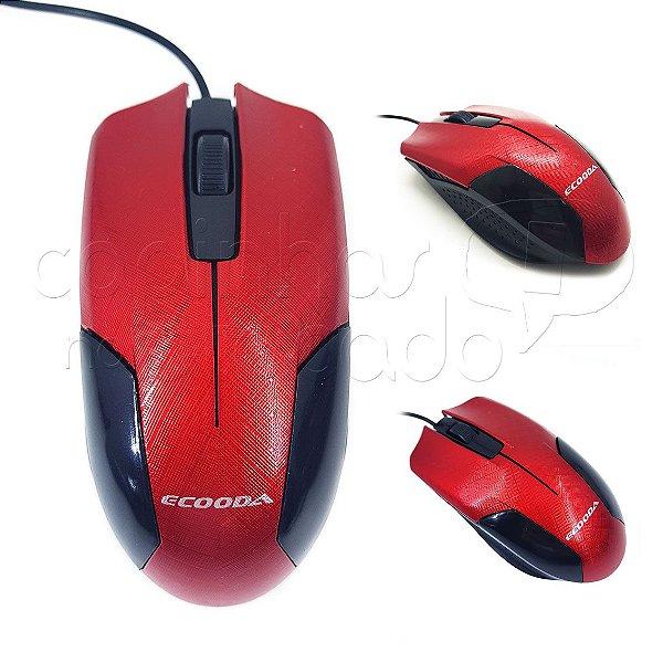 Mouse com Fio Textura - Cores Sortidas