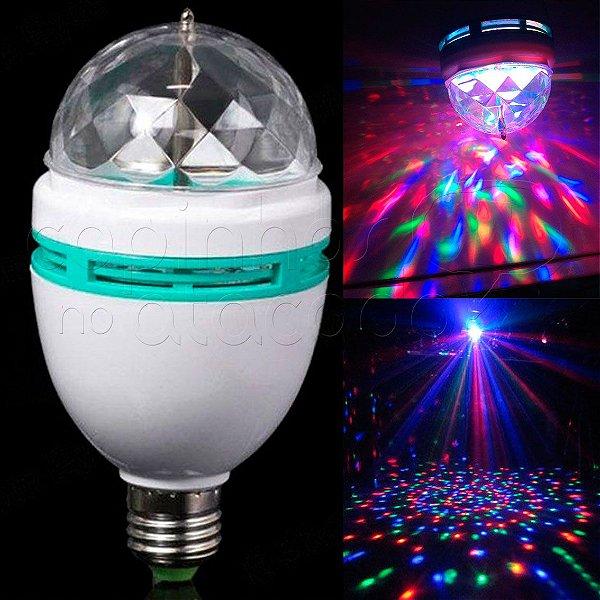 Lampada Giratória de Led Colorfull