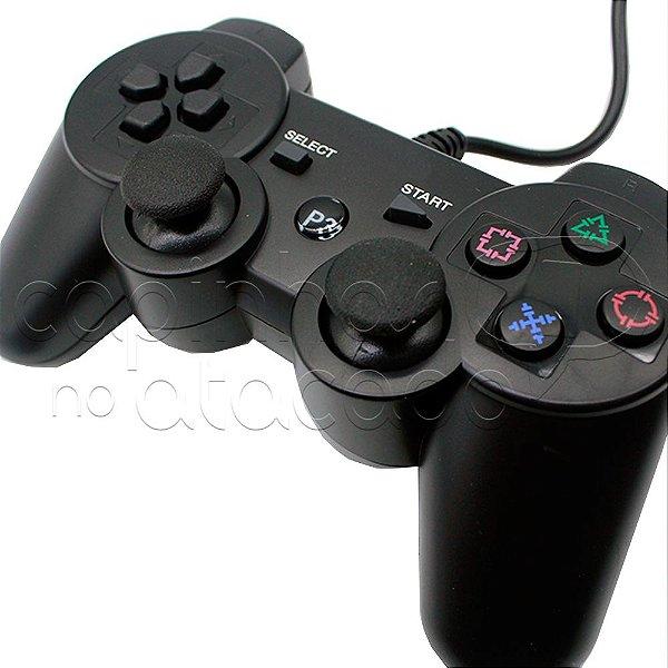 Controle com Fio para PS3 e PC com Blister